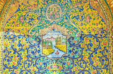 Persian decorative panels in Golestan, Tehran