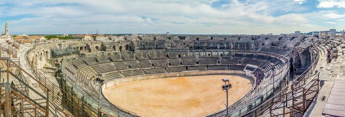 Panorama view of The Roman Theatre of Orange, France Wall mural
