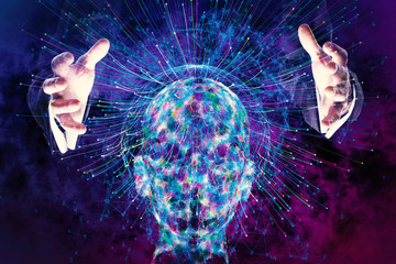 Artificial intelligence and futuristic concept
