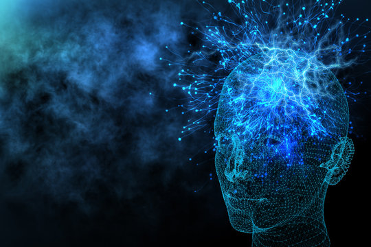 Artificial intelligence and information concept