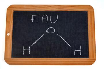 Formule chimique de l'eau