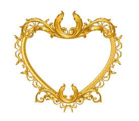 gold vintage picture frame heart