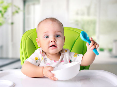 Child meal.Baby eating.Kid's nutrition.