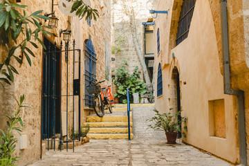 Street architecture in old jaffa in israel Fototapete