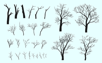 Set of branches and tree.