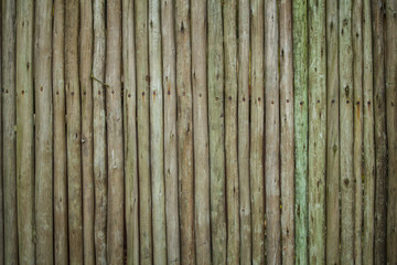 Old weathered rounded planks