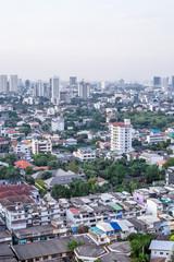 10 November, 2017: City buildings at Ekamai Bangkok Thailand