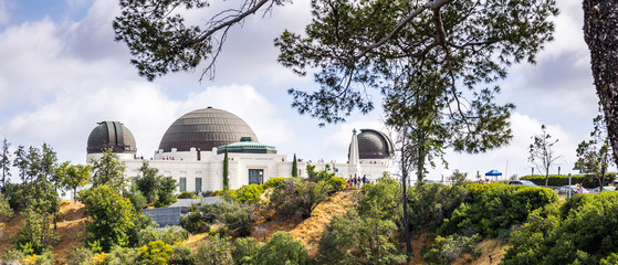 Astronomical Observatory and Griffith Park. Tourist attraction of the DLOS of Angeles, CA