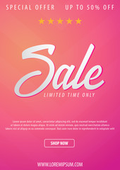Sale poster or Flyer design. Discount background for the online store, shop, promotional leaflet, poster, banner. Vector illustration.