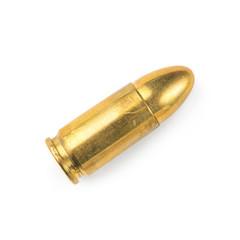 gun bullet, isolated on white background