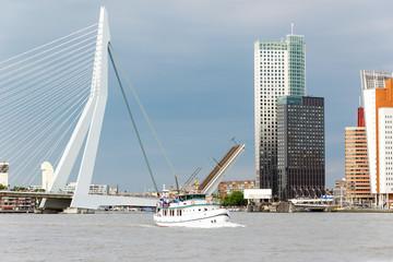Erasmusbrug, Schifffahrt in Rotterdam, Holland