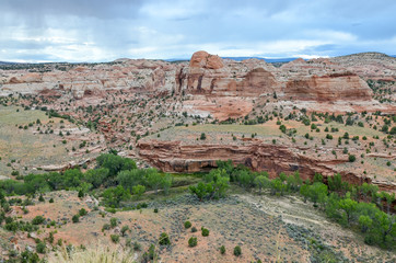Escalante river valley from Utah Scenic Byway 12 Grand Staircase Escalante National Monument, Garfield County, Utah, USA