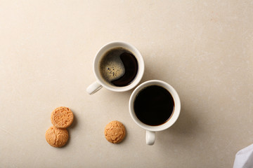 Two cups of coffee above