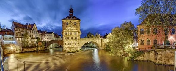 Bamberg altes Rathaus historisch Nacht