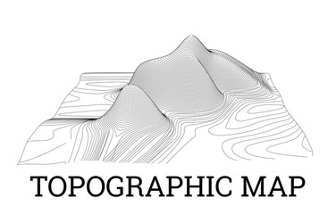Topographical map of the locality, illustration