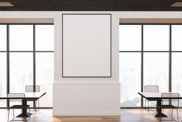 White loft cafe inerior, poster