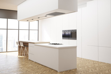Luxury white kitchen corner