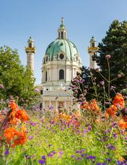 Keuken foto achterwand Wenen Baroque Karlskirche in Vienna