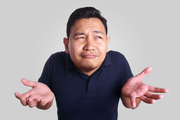 Asian Man Shrug Gesture