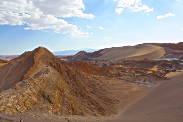 【チリ】アタカマ砂漠の「月の谷」
