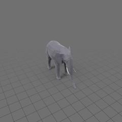 Stylized elephant standing