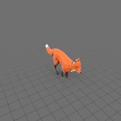 Stylized fox running