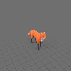 Stylized fox standing