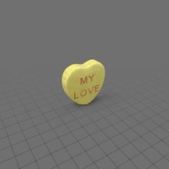 My love heart candy