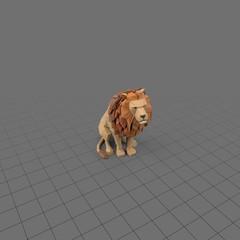 Stylized lion sitting