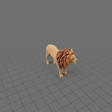 Stylized lion standing