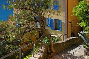 Gandria kleines Fischerdorf am Luganersee, Schweiz - Gandria small village on Lake Lugano