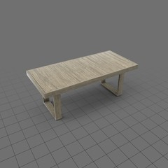 Rectangular reclaimed wood patio table