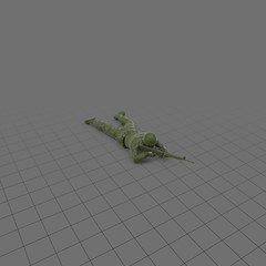 Green plastic soldier with rifle