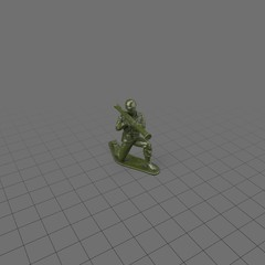 Green plastic soldier with bazooka
