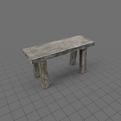 Old rustic bench