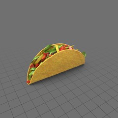 Crunchy taco with toppings