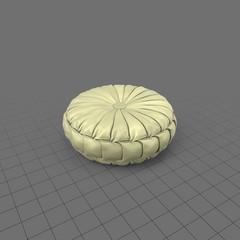 Yellow ornate silk throw pillow