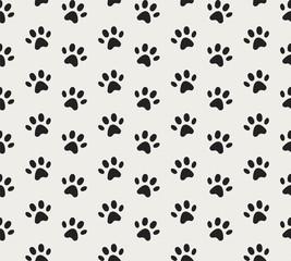 Vector Animal footprint Seamless Pattern. Doodle texture.