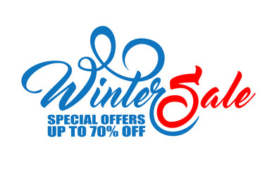 Text Winter Sale in two color