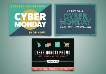 Cyber Monday Sale Social Media Post Set 5
