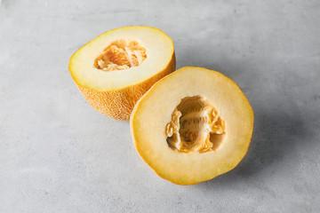 Ripe melon on table