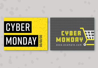 Cyber Monday Sale Social Media Post Set 9