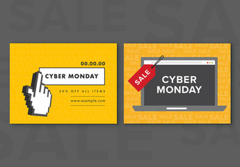 Cyber Monday Sale Social Media Post Set 10