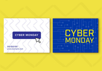 Cyber Monday Sale Social Media Post Set 12