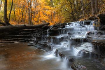Printed roller blinds Waterfalls autumn cascade