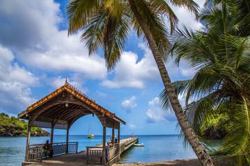 Beach views from Martinique island