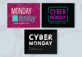 Cyber Monday Sale Social Media Post Set 8