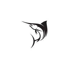 marlin fish vector logo template