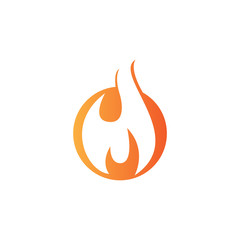 fire flame icon logo template