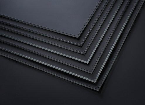 black plastic sheets